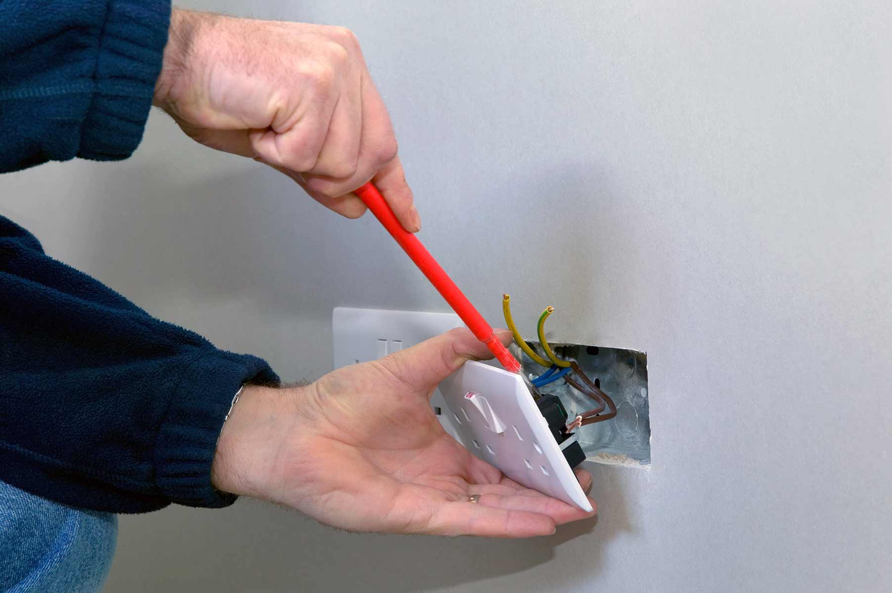 Our electricians can install plug sockets for domestic and commercial proeprties in Rayleigh and the local area.